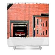 Mustang Car Barn Shower Curtain