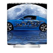 Mustang Reflection Shower Curtain