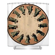 Muybridge Zoopraxiscope, Couple Shower Curtain