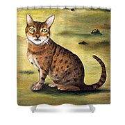 My Cats Worst Nightmare Detail Shower Curtain