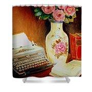 My Classic Royal Typewriter Memories Of Hemingway   Shower Curtain