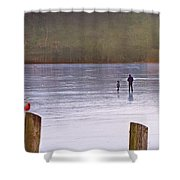 My First Walk On Water Shower Curtain