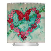 My Heart Has Been Pierced By Love Shower Curtain