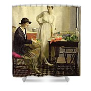 My Kitchen Shower Curtain by Harold Harvey