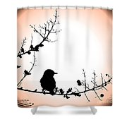 My Little Birdie Shower Curtain