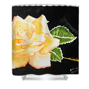 My Yellow Rose Shower Curtain