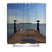 Mysterious Island Shower Curtain