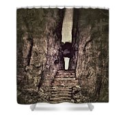Mysterious Stairway Into A Canyon Shower Curtain