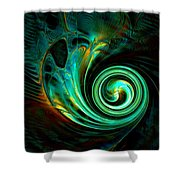 Mystical Spiral Shower Curtain