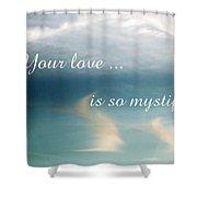 Mystifying Shower Curtain