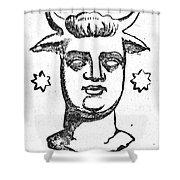 Mythology: Baal Shower Curtain