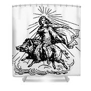 Mythology: Fro (freyr) Shower Curtain