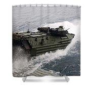 N Amphibious Assault Vehicle Departs Shower Curtain