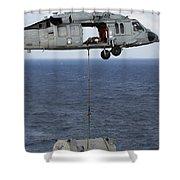 N Mh-60s Sea Hawk En Route Shower Curtain