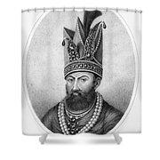 Nadir Shah (1688-1747) Shower Curtain