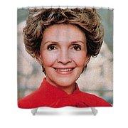 Nancy Reagan, 40th First Lady Shower Curtain