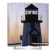 Nantucket Brant Point Lighthouse Shower Curtain