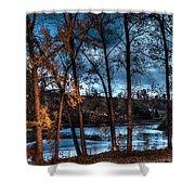 Napanee River At Dawn Shower Curtain