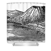 Naples: Monte Nuovo, 1887 Shower Curtain