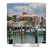 Naples Scene Shower Curtain