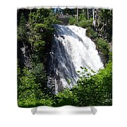 Narada Falls Through The Trees Shower Curtain