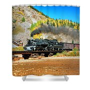 Narrow Gauge Colors In Silverton Shower Curtain