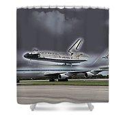 Nasa Space Shuttle Shower Curtain