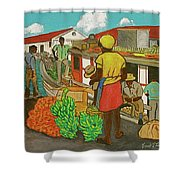 Nassau Fruit Boat Shower Curtain