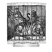Nast: Tweed Cartoon, 1871 Shower Curtain
