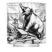 Nast: Tweed Cartoon, 1875 Shower Curtain