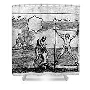 Natchez Punishment, C1725 Shower Curtain