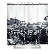 Nathan's Crowd In Coney Island 1 Shower Curtain
