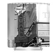 Nathan's Famous At Coney Island In Black And White Shower Curtain