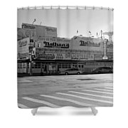 Nathan's Original In Black And White Shower Curtain