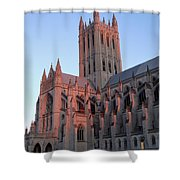 National Cathedral At Sunset Shower Curtain
