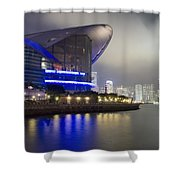 National Convention Center At Night Shower Curtain