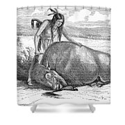 Native Amerians: Cutting Buffalo Shower Curtain