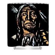 Native American Elder Shower Curtain