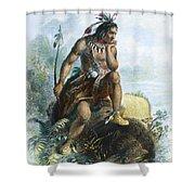 Native American Hunter Shower Curtain