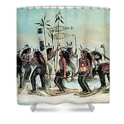 Native American Indian Snow-shoe Dance Shower Curtain