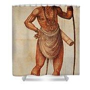 Native American Man C1590 Shower Curtain