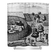 Native American Village Shower Curtain