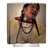 Native Cheyenne Chant Shower Curtain