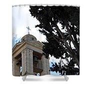 Nativity Church Tree Shower Curtain