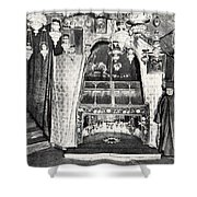 Nativity Grotto In 18th Century Shower Curtain