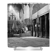 Nativity Pillars Shower Curtain