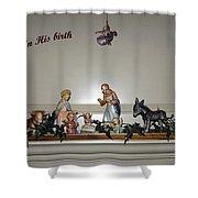 Nativity Set Shower Curtain