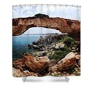 Natural Bridge - Cape Gkreko - Cyprus Shower Curtain