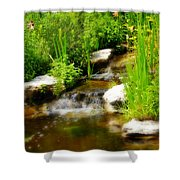 Natural Spring  Shower Curtain
