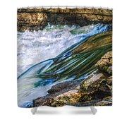 Natural Spring Waterfall Big River Shower Curtain